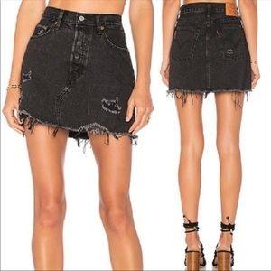 •LEVI'S• Deconstructed Skirt in Gimme Danger